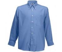 "Рубашка ""Long Sleeve Oxford Shirt"" Цвет: Синий"