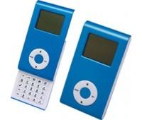Калькулятор раздвижной с календарем и часами Цвет: Синий