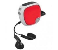 FM-радио c шагомером и наушниками Цвет: Красный