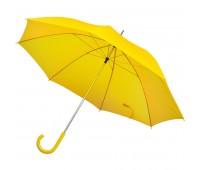 Зонт-трость с пластиковой ручкой, механический Цвет: Желтый