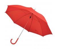 Зонт-трость с пластиковой ручкой, механический Цвет: Красный