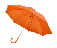 Зонт-трость с пластиковой ручкой, механический Цвет: Оранжевый