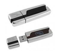 USB flash-память с подсвечивающимся логотипом (4Gb) Цвет: серебристый, черный