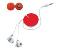 Устройство для скручивания наушников с креплением на магните Цвет: Красный