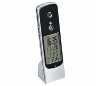 Веб-камера USB настольная с часами, будильником и термометром Цвет: серебристый, черный