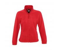 Толстовка женская флисовая NORTH WOMEN 300 Цвет: Красный