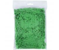 Стружка бумажная декоративная, 3 мм, 40 гр Цвет: Зеленый