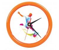 """Часы настенные """"PRINT"""" для рекламной вставки Цвет: Оранжевый"""