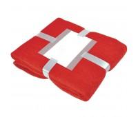 """Плед """"MOHAIR"""" с открыткой подарочной Цвет: Красный"""
