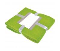 """Плед """"MOHAIR"""" с открыткой подарочной Цвет: Зеленый"""