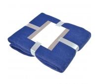 """Плед """"MOHAIR"""" с подарочной открыткой  Цвет: Синий"""