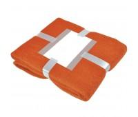 """Плед """"MOHAIR"""" с открыткой подарочной Цвет: Оранжевый"""