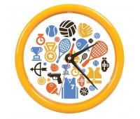 """Часы настенные """"PRINT"""" для рекламной вставки Цвет: Желтый"""