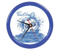 """Часы настенные """"PRINT"""" для рекламной вставки  Цвет: Синий"""