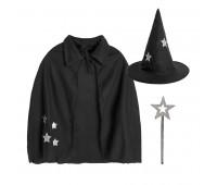 """Костюм карнавальный  """"Волшебник"""" для корпоративных мероприятий Цвет: Черный"""