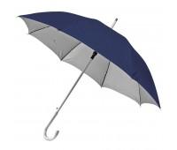 Зонт-трость SILVER, пластиковая ручка, полуавтомат Цвет: Темно-синий