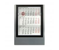 Календарь настольный на 2 года Цвет: серебристый, черный