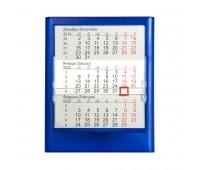 Календарь настольный на 2 года; прозрачно-синий; 12,5х16 см; пластик; тампопечать, шелкография Цвет: Синий