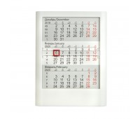 Календарь настольный на 2 года; белый; 13 х16 см; пластик; тампопечать, шелкография Цвет: Белый