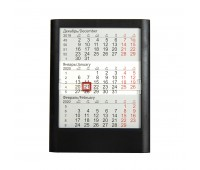 Календарь настольный на 2 года; черный; 13 х16 см; пластик; тампопечать, шелкография Цвет: Черный