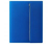 """Папка А4  """"PATRIX""""  с блокнотом и карманом  на молнии, синяя, полиэстер 600D Цвет: Синий"""