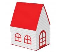 """Упаковка  подарочная, коробка """"ДОМ""""  складная, красный Цвет: Белый"""