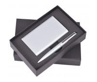 """Набор """"Mirror"""": универсальное зарядное устройство (6000мАh) и ручка Цвет: Серебристый"""