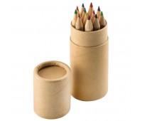 """Набор цветных карандашей (12шт)  """"Игра цвета"""" в футляре Цвет: коричневый"""