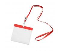 Ланъярд с держателем для бейджа Цвет: Красный