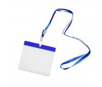 Ланъярд с держателем для бейджа Цвет: Синий