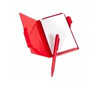 Блокнот для записей с авторучкой Цвет: Красный