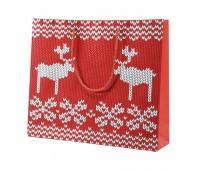 """Пакет  большой """"Oh my deer"""" Цвет: Белый"""