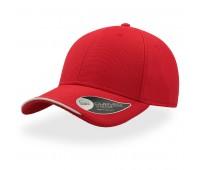 Бейсболка ESTORIL, 6 клиньев, застежка на липучке Цвет: Красный