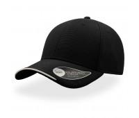 Бейсболка ESTORIL, 6 клиньев, застежка на липучке Цвет: Черный