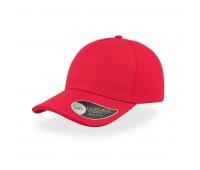 Бейсболка GEAR, 5 клиньев, застежка на липучке Цвет: Красный
