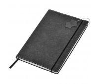"""Бизнес-блокнот А5  """"Indi"""" ,  серый, в клетку , 160 стр., рециклированная кожа Цвет: Серый"""