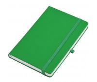 """Бизнес-блокнот  """"Silky"""", формат А5,  обложка твердая,  блок в клетку Цвет: Зеленый"""