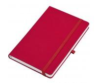 """Бизнес-блокнот  """"Silky"""", формат А5,  обложка твердая,  блок в клетку Цвет: Красный"""
