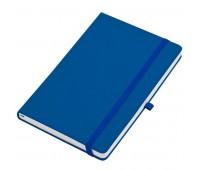 """Бизнес-блокнот  """"Silky"""", формат А5,  обложка твердая,  блок в клетку Цвет: Синий"""