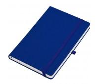 """Бизнес-блокнот  """"Silky"""", формат А5,  обложка твердая,  блок в клетку Цвет: Темно-синий"""