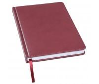 Ежедневник недатированный Bliss, А5,  бордовый, белый блок, без обреза Цвет: Бордовый