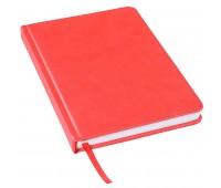 Ежедневник недатированный Bliss, А5,  красный, белый блок, без обреза Цвет: Красный