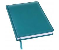 Ежедневник недатированный Bliss, А5,  морская волна, белый блок, без обреза Цвет: Бирюзовый