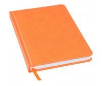 Ежедневник недатированный Bliss, А5,  оранжевый, белый блок, без обреза Цвет: Оранжевый