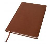 Ежедневник недатированный Bliss, А4,  коричневый, белый блок, без обреза Цвет: Коричневый