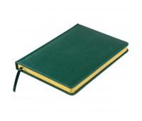 Ежедневник недатированный Joy, А5,  темно-зеленый, белый блок, золотой обрез Цвет: Зеленый
