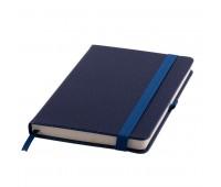 Ежедневник недатированный Barry, А5,  темно-синий металлик, кремовый блок, без обреза Цвет: Темно-синий