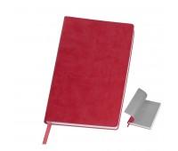 """Бизнес-блокнот """"Funky"""" A5, красный, серый форзац, мягкая обложка, в линейку  Цвет: Красный"""