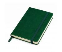 """Бизнес-блокнот """"Casual"""", 115 × 160 мм,  зеленый, твердая обложка, резинка 7 мм, блок-клетка Цвет: Зеленый"""