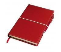 """Бизнес-блокнот """"BUSINESS"""", 140*220 мм, красный,  обложка портфолио,  блок-линейка, тиснение Цвет: Красный"""
